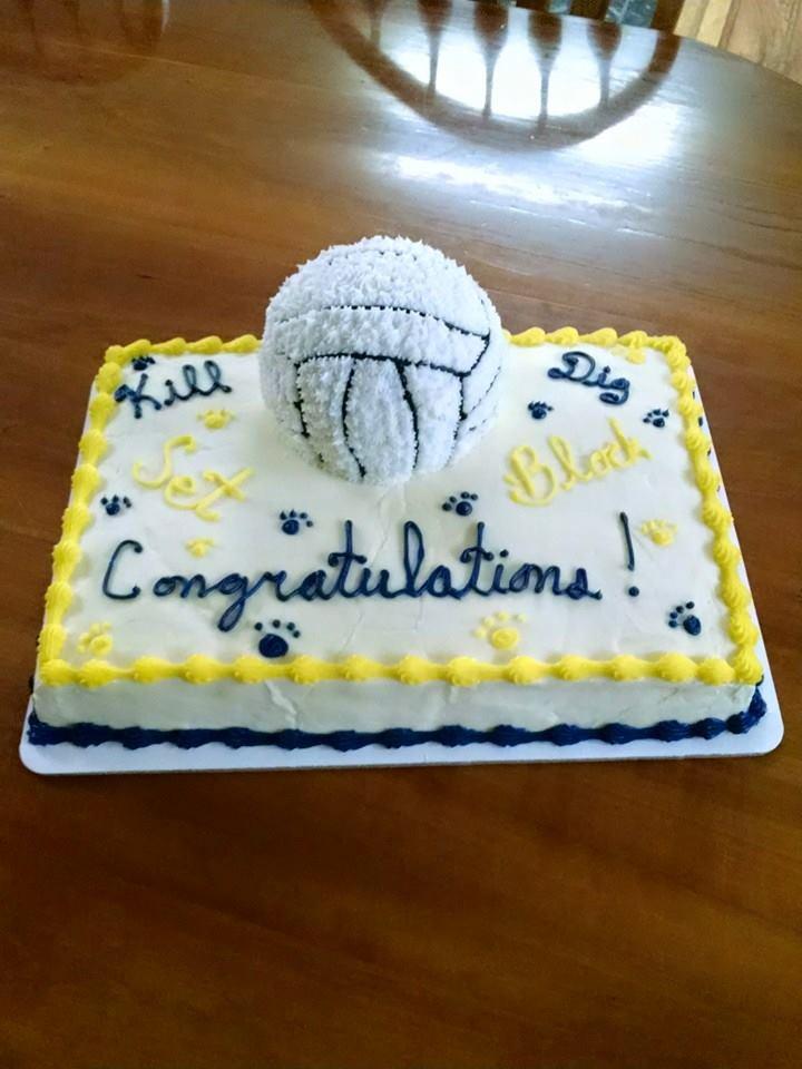 Remarkable 3D Volleyball Ice Cream Cake Dotties Ice Cream Personalised Birthday Cards Arneslily Jamesorg